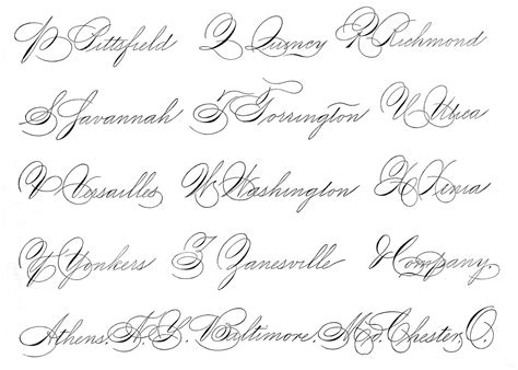 Spencerian Penmanship Worksheets by Spencerian Saturday Pen Flourished Words The Graphics