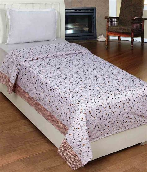 floral bed sheets homezaara multicolour floral cotton single bed sheet buy