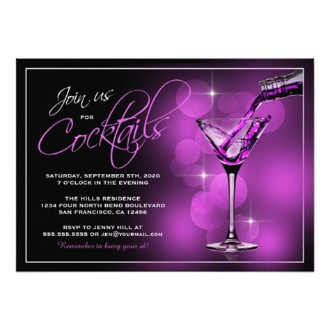 cocktail invitation card template join us for cocktails invitations cocktail card