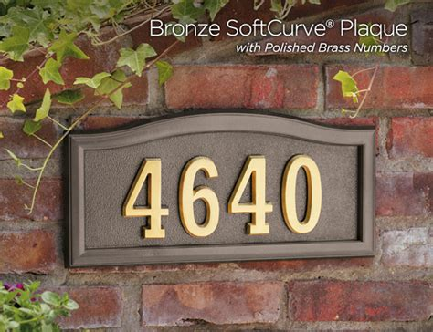 address plaques for house softcurve address plaques numbers gaines manufacturing