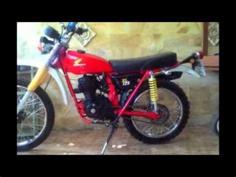 video modifikasi motor jadul honda gl trail motor