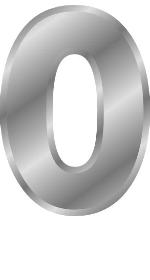 silver number 0 - /signs_symbol/alphabets_numbers/silver