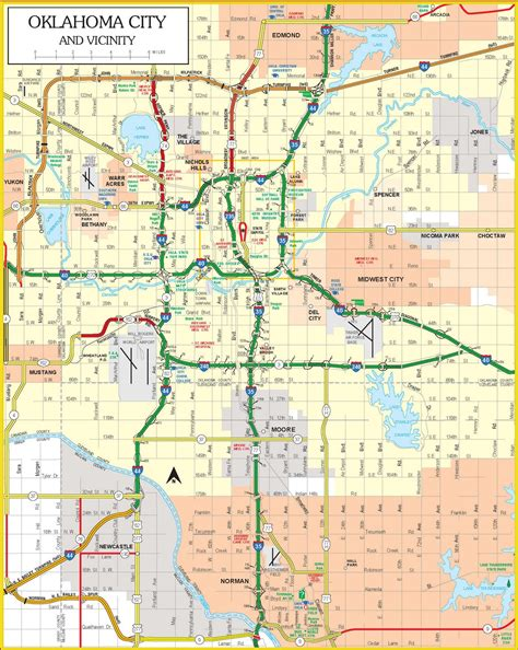 oklahoma city map oklahoma city map free printable maps