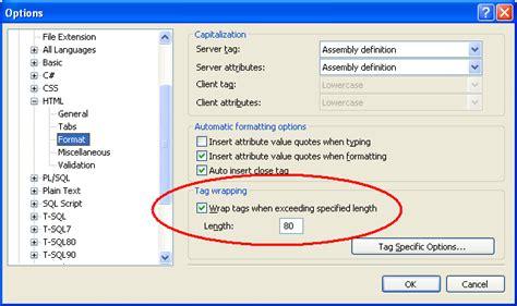 format html visual studio scottgu s blog tip trick custom formatting html in
