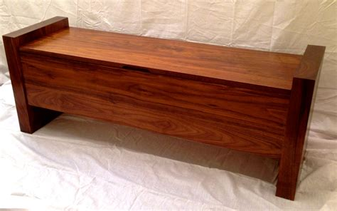 custom made bench handmade walnut storage bench by shawn s woodworking