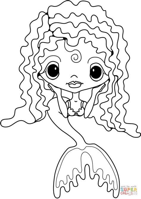cute ariel coloring pages coloring pages cute little mermaid coloring page free printable