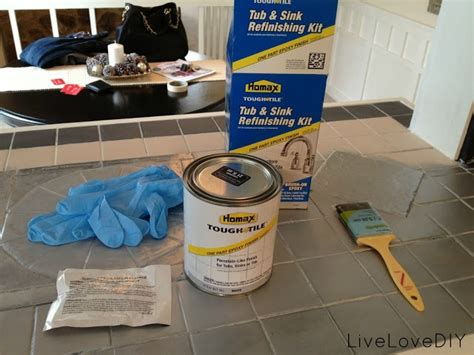 home depot tile paint kit how to paint tile tub or sink product from home depot