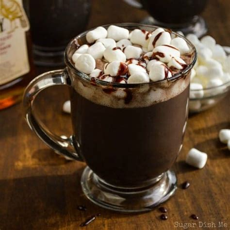 Christmas Drink bourbon spiked chocolate sugar dish me