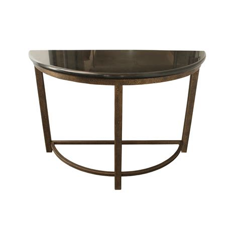 half round accent tables designe gallerie half round metal console accent table