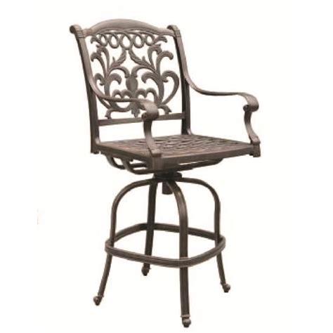 patio furniture barstool swivel cast aluminum valencia