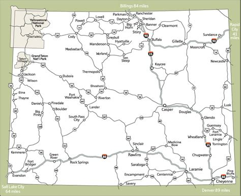 printable wyoming road map free wyoming state map coloring pages
