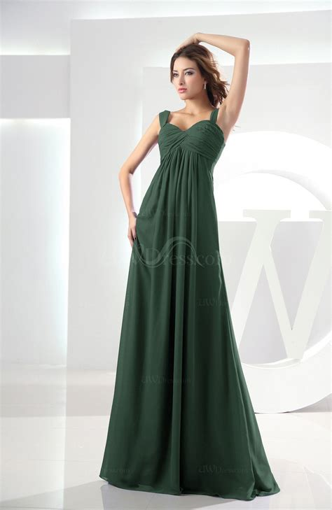Floor Length Bridesmaid Dresses by Green Casual Empire Zipper Chiffon Floor Length Ruching Bridesmaid Dresses Uwdress