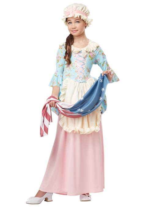 Colonial betsy ross child costume 326848 trendyhalloween com