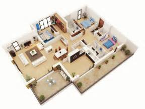 House Plans 3 Bedroom by 25 More 3 Bedroom 3d Floor Plans