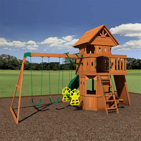backyard discovery woodland woodland wooden swing set playsets backyard discovery