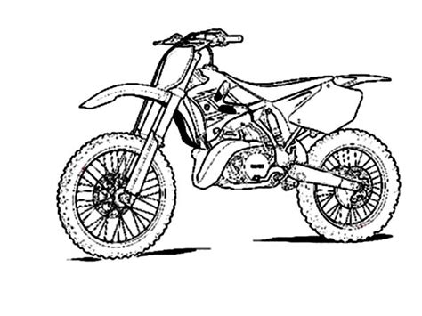 how to draw a motocross bike how to draw a dirt bike motorcycle drawing by
