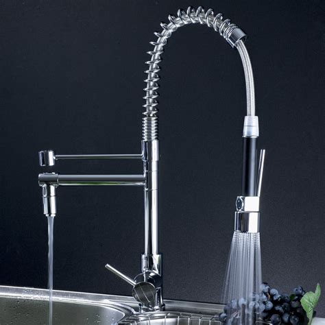 Professional Kitchen Faucets | professional kitchen faucet with pull out spray 0323f