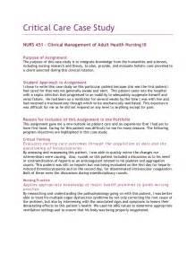 Care Study Essay 4 critical care study