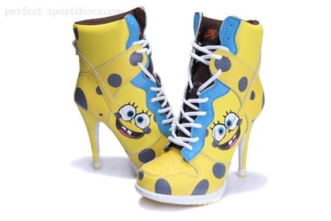 high heel sneakers for sale fashion wmns nike dunk high heels shoes yellow blue