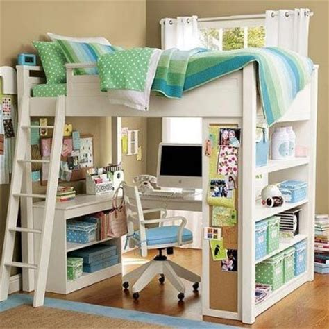 Bunk Bed With Office Underneath A Mini Office The Bunk Bed My Room Pinterest