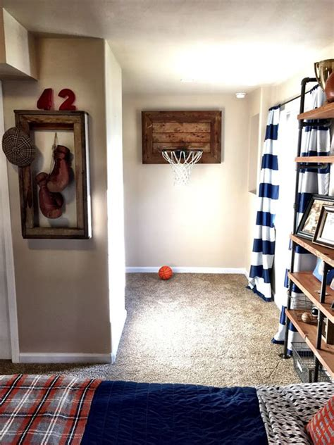 sports themed room 25 modern teen boys room with sport themes home design