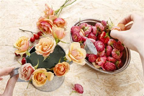 how to make floral arrangements step by step how to make floral arrangement in vintage watering can