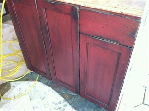 red kitchen cabinets with black glaze 1000 ideas about black distressed furniture on pinterest
