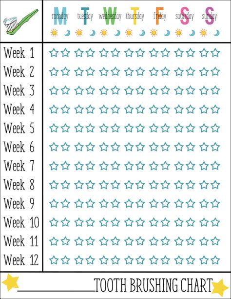 printable tooth brushing reward chart free printable tooth brushing chart printable maps