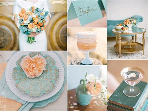ruby wedding inspiration mint green teal and gold wedding 60 best images about peach mint gold table decor on
