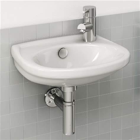basin for small bathroom aerial wall mounted basin 36x30cm rh tap hole only