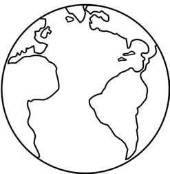 printable coloring pages earth earth template clipart best