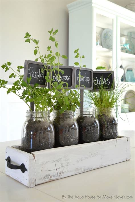 indoor herb gardens table top herb garden from an old pallet diy table