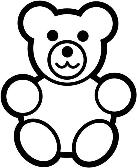 simple bear coloring page teddy bear colouring az coloring pages