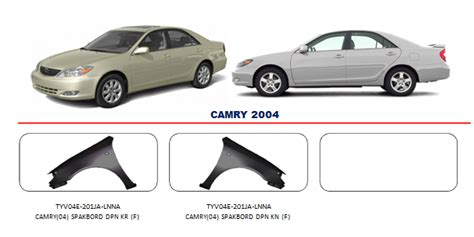 Accu Mobil Camry bodypart toyota camry 2004 auto part mobil