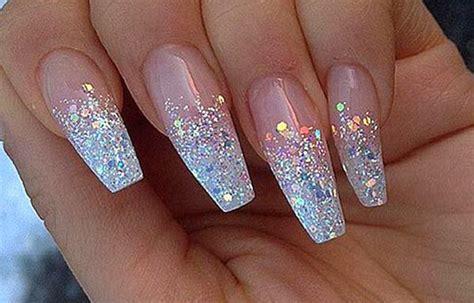 imagenes de uñas blancas de acrilico dise 241 os de u 241 as con escarcha u 241 asdecoradas club