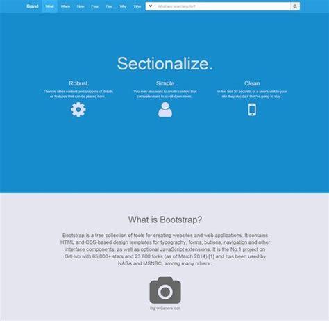 Bootstrap Navigation Templates 18 best application bootstrap website templates web