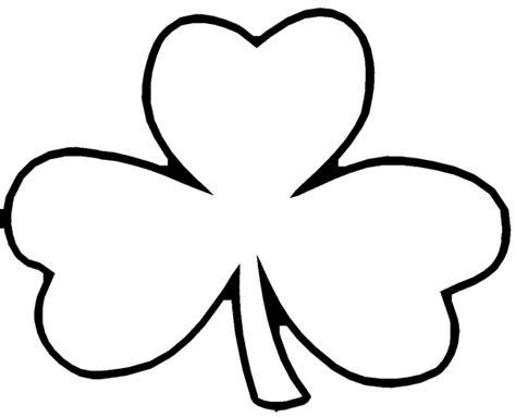 coloring pages shamrock template free shamrock coloring pages printable c0lor com