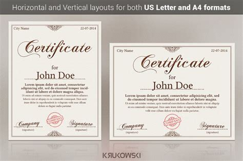customizable certificate template 20 award certificate template word eps ai and psd