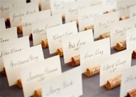 how to make cork place card holders something green cork place card holders