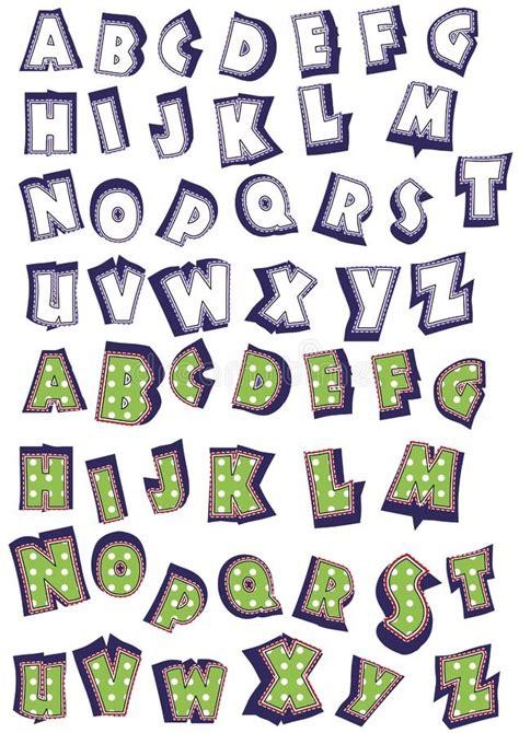 lettere alfabeto divertenti lettere divertenti illustrazione vettoriale illustrazione