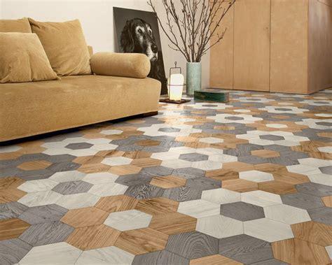 Hexagonal Parquet Wood Floor Tiles by Edward van Vliet for