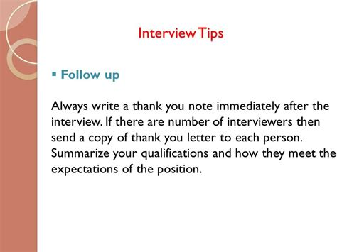 thank you letter after tips ppt