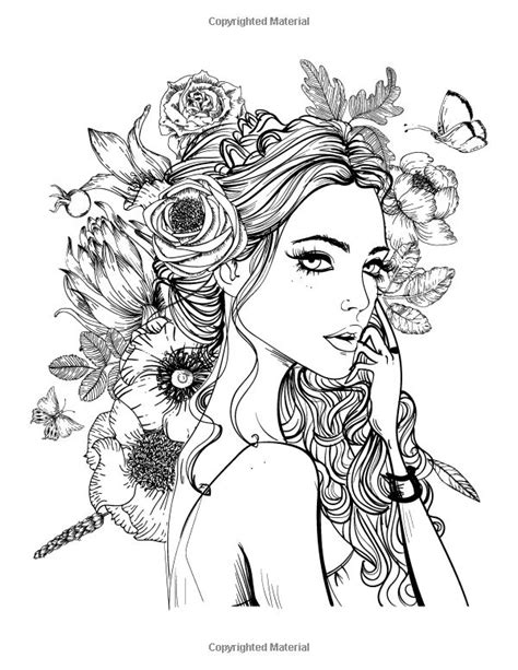 coloring pages for girl adults 637 best coloring pages portraits for grown ups images