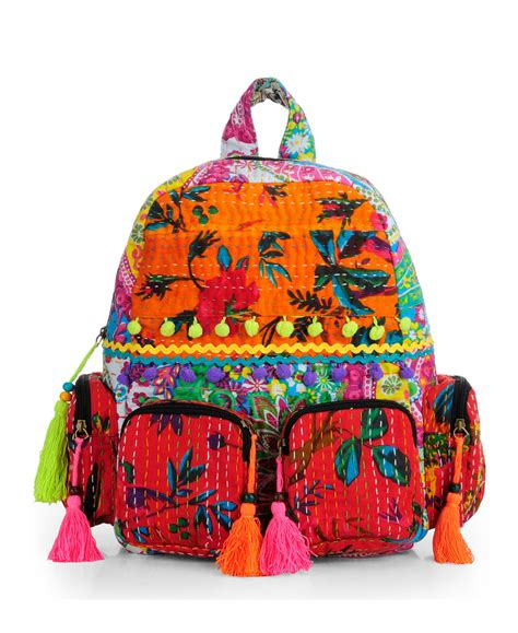 Patchwork Backpack - patchwork fabric backpack in kantha work htbp 143