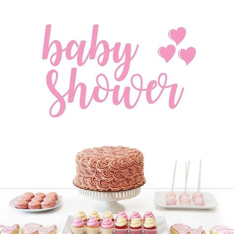 Wall Sticker Baby Shower baby shower wall decal font 1 hart ldn