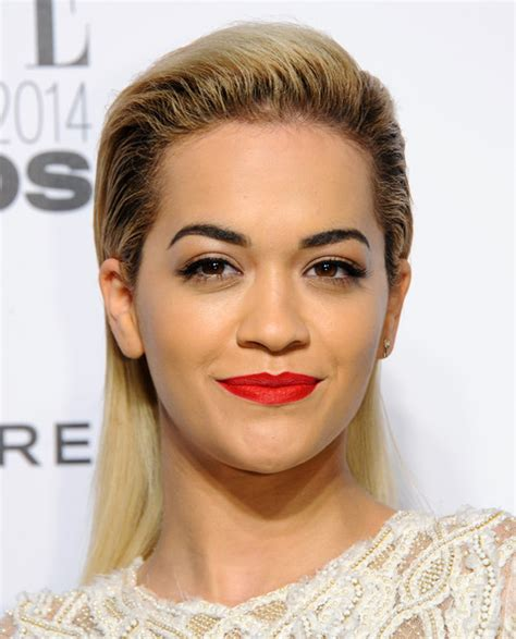 what colour liostick does rita ora wear on the voice celebrity hairstyles 2014 chicest back teased hairstyles