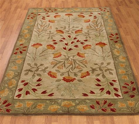 New Pottery Barn Handmade Adeline Multi Area Rug 8x10 8x10 Area Rugs Cheap