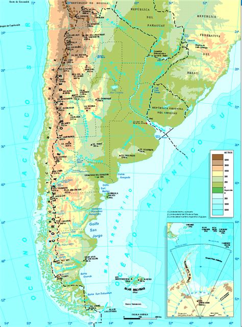 argentina physical map detailed physical map of argentina argentina detailed
