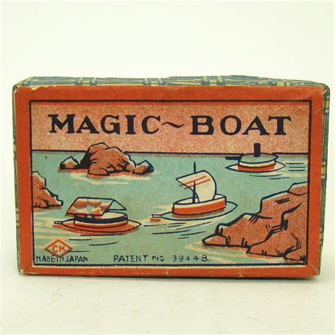 toy boat magic celluloid magic boats toys dtr antiques