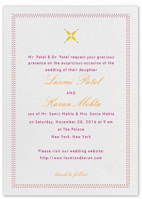 Indian Wedding Invitation Wording Template Shaadi Bazaar Wedding Invitation Wording Templates